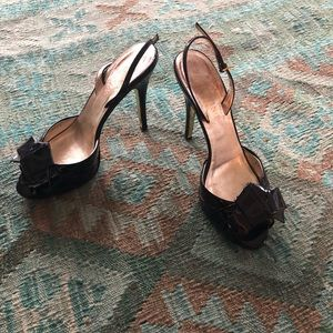 Valentino patent leather black heels - sz 39